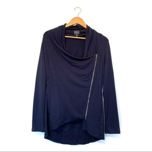 Market and spruce asymmetrical zip front jacket